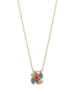 Image of SUMMER MINIS PINWHEEL NECKLACE MULTI