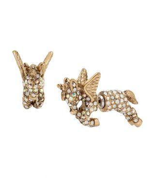 Summer Minis Unicorn Earrings Crystal