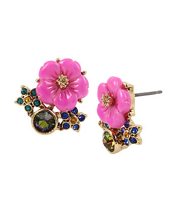 SURREAL FOREST FLOWER STUD EARRINGS