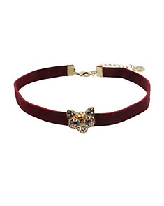 SURREAL FOREST FOX CHOKER