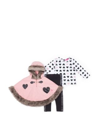 SWEET HEARTS TODDLER THREE PIECE SET PINK