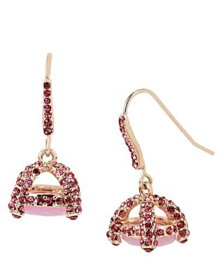 SWEET SHOP ROSEGOLD STONE DROP EARRINGS PINK