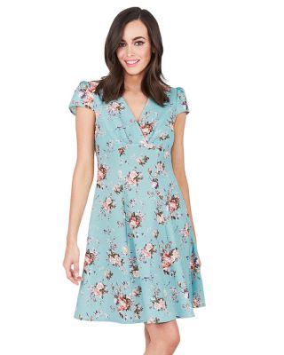 SWEETNESS FLORAL DRESS MINT GREEN