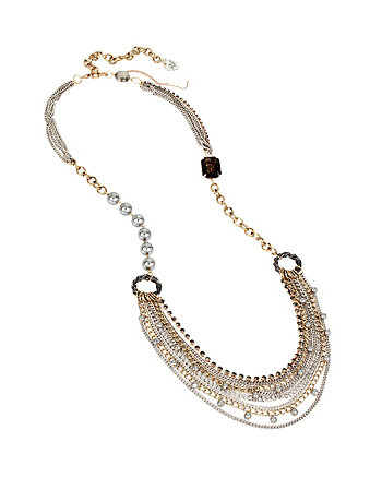 THROWBACK TO VINTAGE LONG STATEMENT NECKLACE
