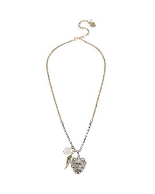 THROWBACK TO VINTAGE SKULL NECKLACE CRYSTAL