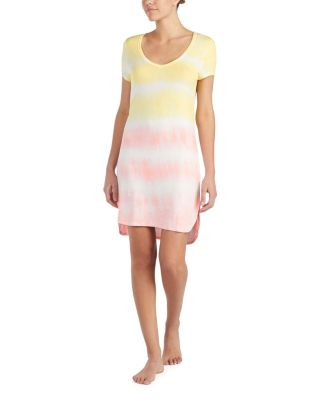 Image of TIE DYE FOR BETSEY SLEEPSHIRT YELLOW MULTI