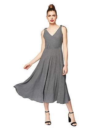 Tie Shoulder Midi Dress Betsey Johnson