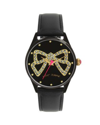TIED UP WITH A BOW WATCH BLACK