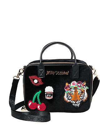 TIGERS AND CHERRIES AND LIPS OH MY LUNCH TOTE