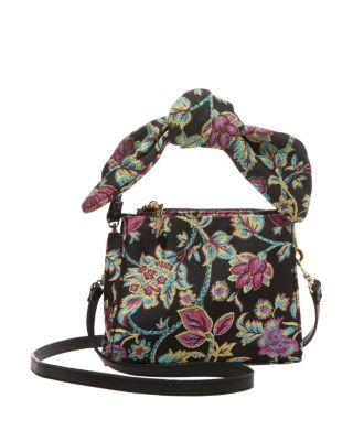 TOP KNOT SATCHEL BLACK MULTI