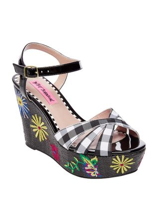 Traci Red Multi by Betsey Johnson