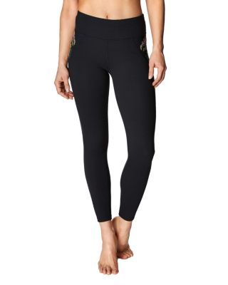 TROPIC EMBROIDERY LEGGING BLACK