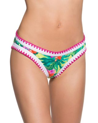 TROPICAL ESCAPE HIPSTER BOTTOM LIME