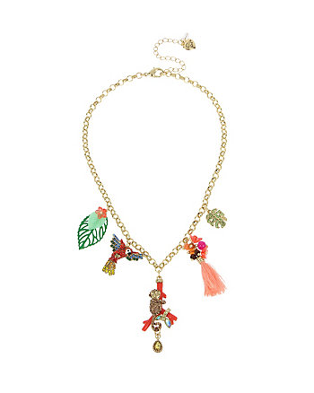 TROPICAL PUNCH CHARM FRONTAL NECKLACE