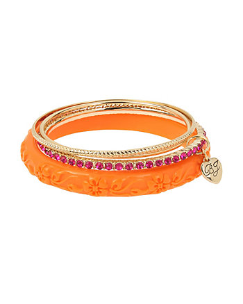 TROPICAL PUNCH ORANGE BANGLE SET