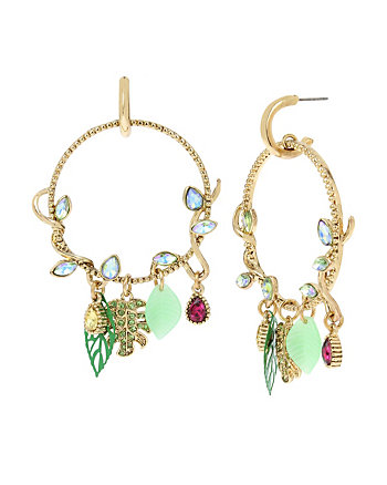 TROPICAL PUNCH VINE HOOP EARRINGS