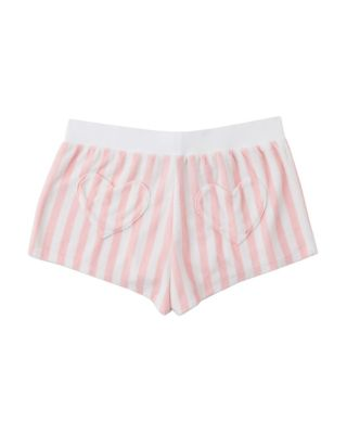 TROPICAL VIBES TERRY SHORTS PINK/WHITE