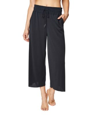 WIDE LEG LOUNGE PANT BLACK
