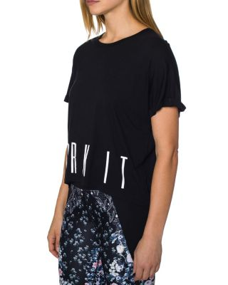 WORK IT OVERSIZED BOXY TEE BLACK/WHITE