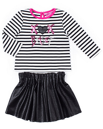 XOX BETSEY TODDLER 2 PIECE SKIRT SET