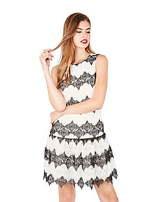 ZIG ZAG LACE DRESS