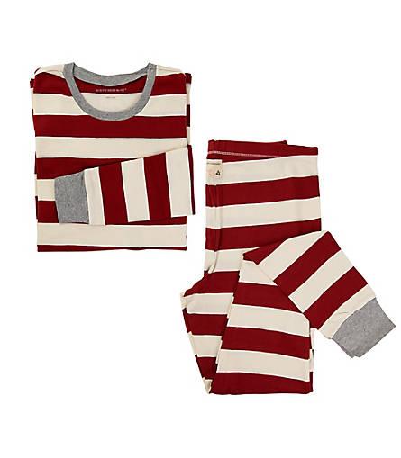 Womens Organic Rugby Stripe Pajama Set - Burts Bees Baby