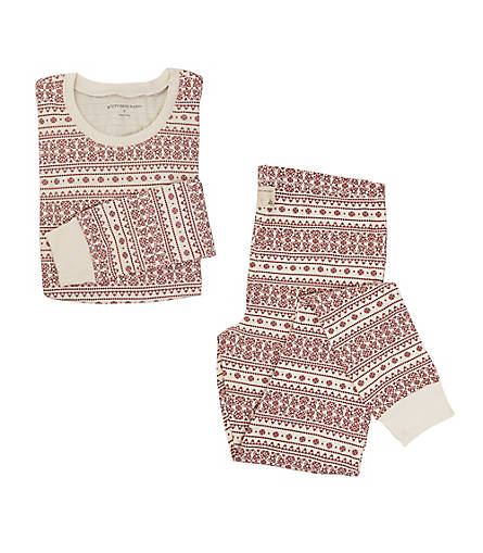 Womens Organic Cotton Fair Isle Adult Pajamas - Burts Bees Baby