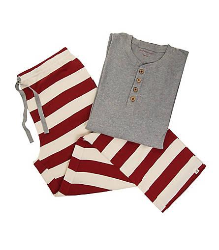 Mens Organic Henley Rugby Stripe Pajama Set - Burts Bees Baby