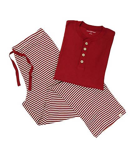 Mens Organic Henley Candy Cane Stripe Pajama Set - Burts Bees Baby