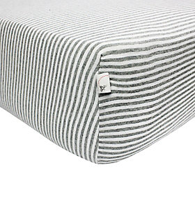Stripe Organic Cotton BEESNUG™ Fitted Crib Sheet