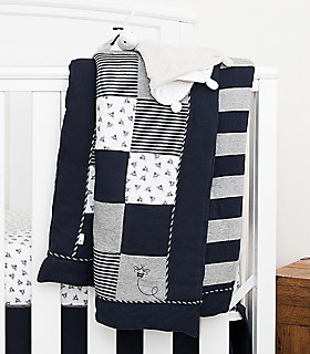 Honeybee Checkered Baby Quilt