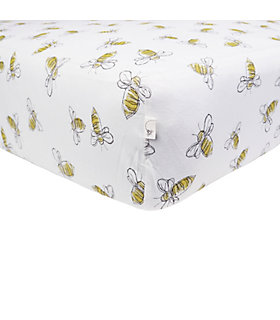 Scattered Bees Fitted Crib Sheet