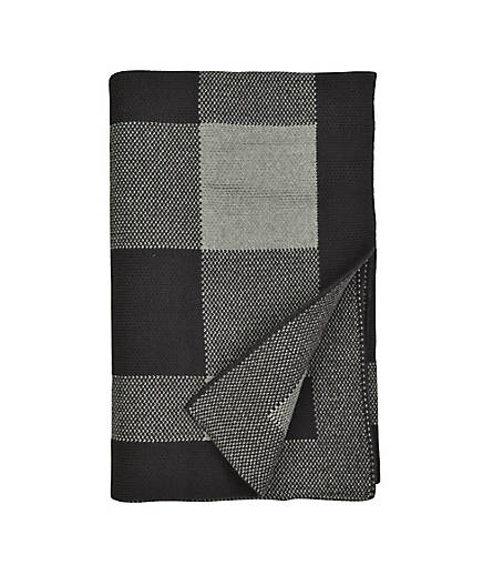 Buffalo Check Stroller Blanket: Color - Heather Grey
