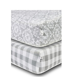 2 pack fitted crib sheets