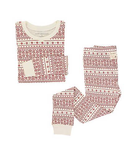 Big Kids Fair Isle Organic Cotton Pajamas - Burts Bees Baby