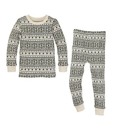 Baby Fair Isle Organic Cotton Pajamas - Burts Bees Baby