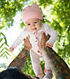 Autumn Trees Organic Cotton Footed Coverall & Hat Set
