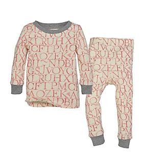 "Watercolor A ""Bee"" C Organic Cotton Pajamas"