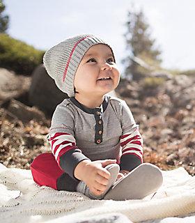 Baby Organic Cotton Henley 2fer Bodysuit