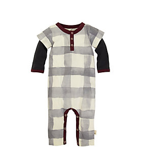 Baby Organic Cotton Buffalo Check 2fer Coverall