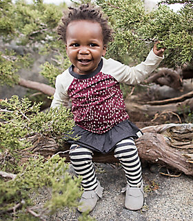 Baby Organic Cotton Mini Trees Tunic and Legging Set
