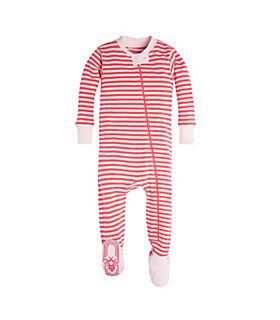 baby mini stripe organic cotton sleeper - Valentines Day Pajamas