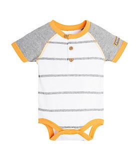 Baby Henley Raglan Organic Cotton Bodysuit