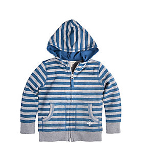 Baby French Terry Stripe Zip Organic Cotton Hoodie
