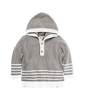 Baby Hooded Organic Cotton Sweater
