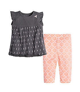 Baby Ikat Organic Cotton Tee and Capri Legging Set