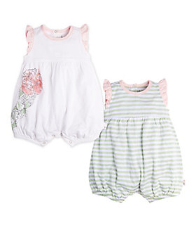 Baby 2 Pack Watercolor Bloom Organic Cotton Bubbles