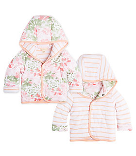 Baby Succulent Flowers Organic Cotton Reversible Jacket
