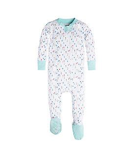 Baby Desert Arrows Organic Zip Front Footed Pajamas