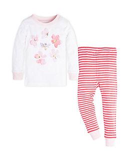Baby Mini Stripe Organic Cotton Pajama Set